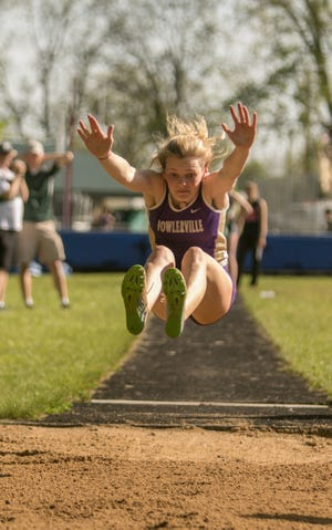 Fowlerville's Mackenzie Brigham finished fifth in the long jump at the state Division 2 track and field meet.