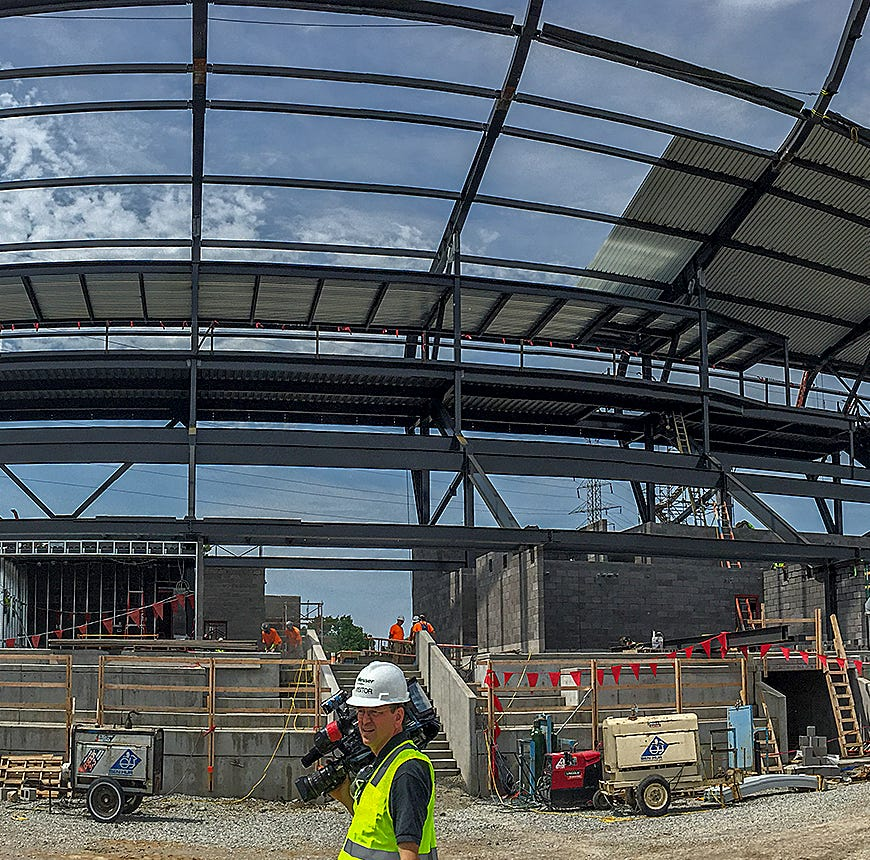 LouCity FC stadium in Butchertown construction continues, set to open in March