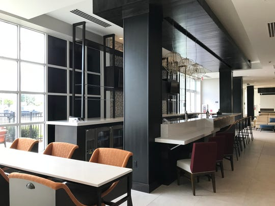 The bar inside Blume, a 64-seat restaurant opening inside the new Hilton Garden Inn on Saginaw Highway in Delta Township.