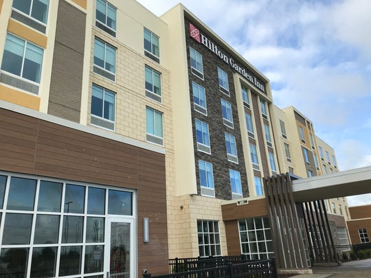 A five-story Hilton Garden Inn on Saginaw Highway in Delta Township will open Wednesday, May. 29.