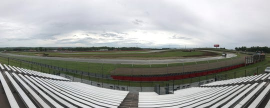 The view from the brand new grandstand implanted just for the Americas Rallycross event at Mid-Ohio this weekend allows spectators something they never had before at Mid-Ohio, the ability to see the entire track for an entire race.