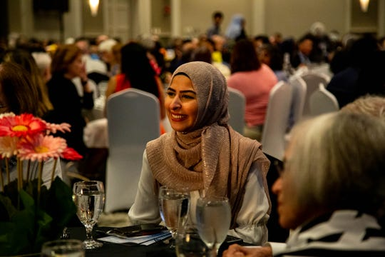 Sally Mansour at the 13th Memphis Interfaith Ramadan dinner in Cordova