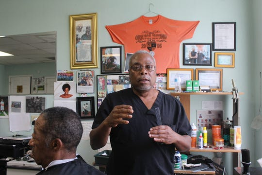 Milton Gooden, 59, owner of Milton's Classic Cuts has been working in the barbershop business for 20 years. Gooden said his aunt previously owned the business and the building has been used by his family for over 40 years.