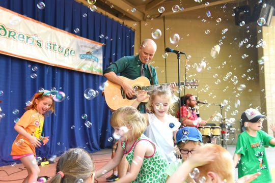 Most of Milwaukee's summer festivals have children's entertainment, including as shown here at Irish Fest.