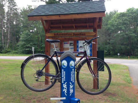 Bike repair stations are scattered along the Heart of Vilas trail system in Vilas County.