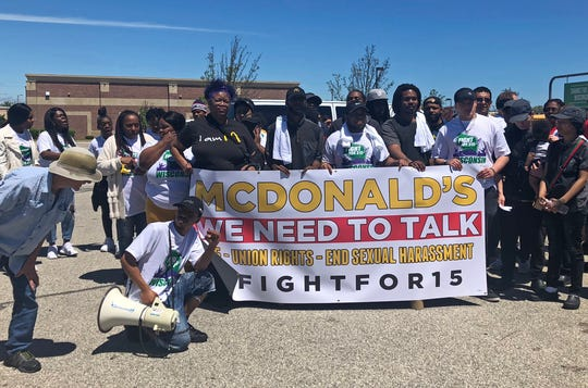 Milwaukee protesters prepare to march to McDonald's to push for higher wages and the right to unionize.