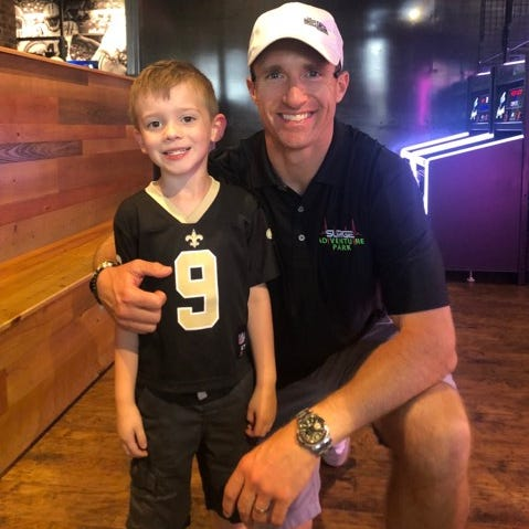 Local child meets Saints-star namesake