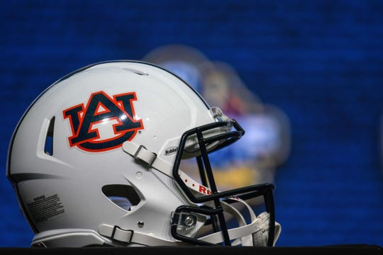 An Auburn football helmet.