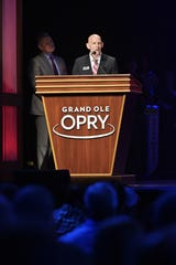 Retired Army Lt. Gen. Keith Huber, MTSU's senior adviser for veterans and leadership initiatives, served as a guest announcer for the Grand Ole Opry's Salute The Troops show Tuesday in Nashville, Tenn.