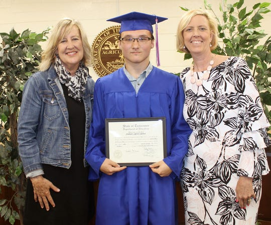 Chris Morford graduated from Riverside Academy on Wednesday, May 22.