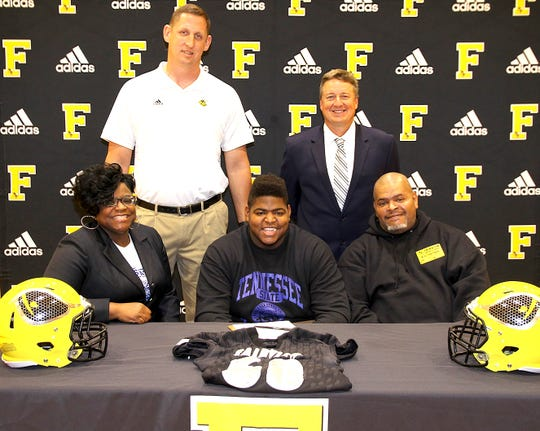 Fairview High's DeCarlos Moore Miller signed with Tennessee State University to play football on May 15, 2019.