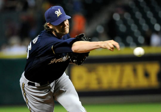 Milwaukee Brewers' Tim Dillard in a baseball game against the Houston Astros Wednesday, May 16, 2012, in Houston.