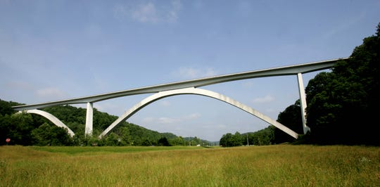 The Natchez Trace Bridge in Franklin, Tennessee.