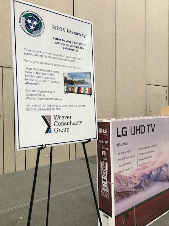 Attendees at the Tennessee Department of Environment and Conservation's Environmental Show of the South walked away with prizes that ranged from 65-inch 4K HD TVs to smaller items like pressure washers, Tennessee whiskey and tickets to the Chattanooga Aquarium.