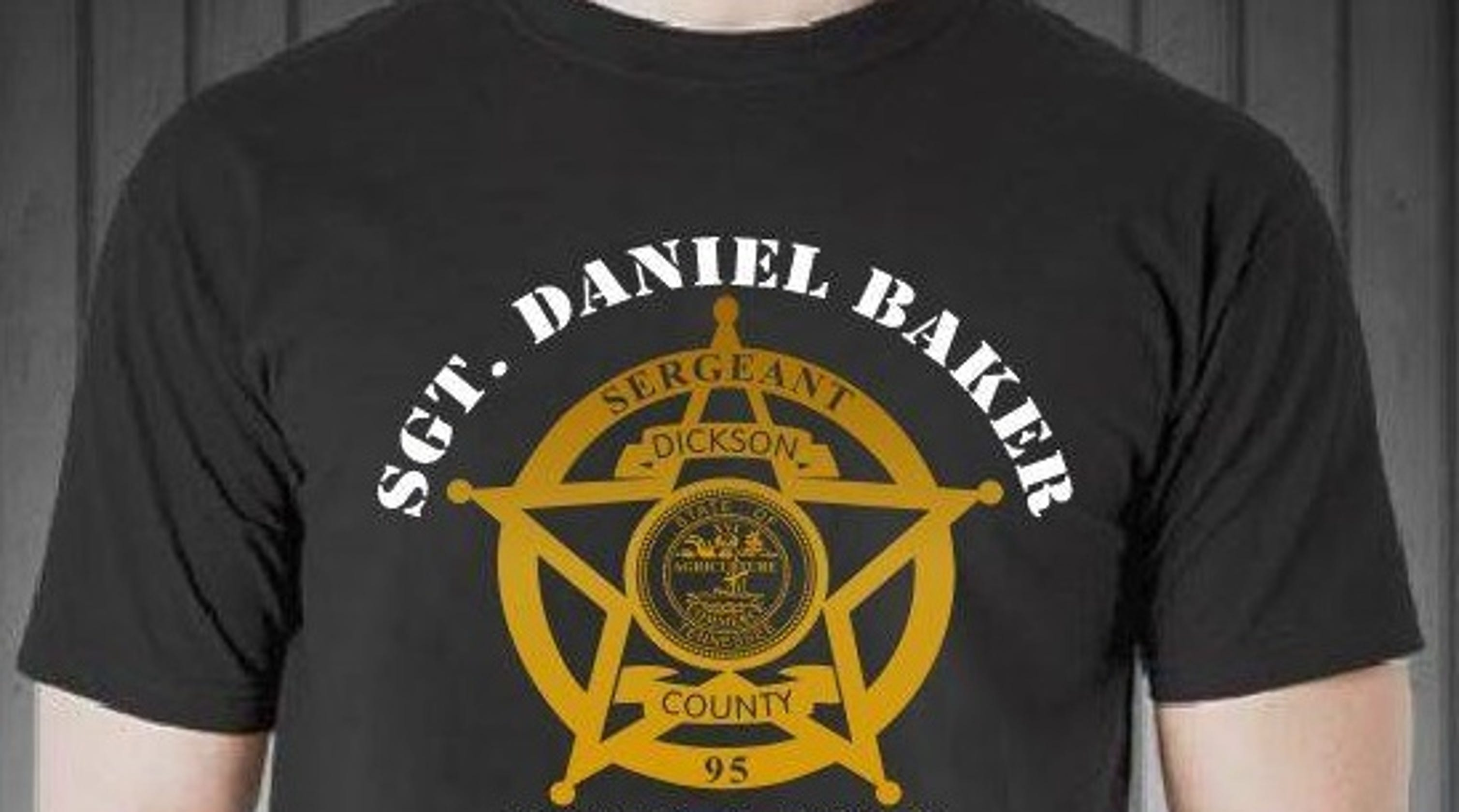 Sgt  Baker, a year later: Memorial event, badge T-shirts to