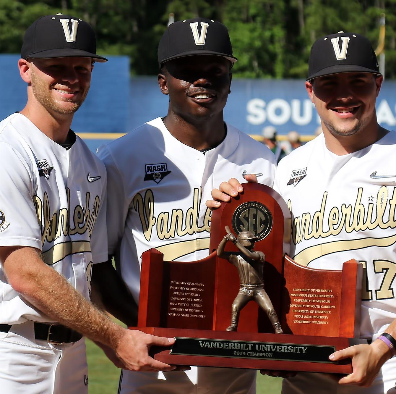 SEC Baseball Tournament: Vanderbilt gets regular-season trophy, wins big to start postseason