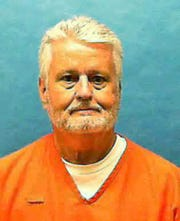 In this updated photo made available by the Florida Department of Law Enforcement shows Bobby Joe Long in custody. Long, is scheduled to be executed Thursday, May 23, 2019, for killing 10 women during eight months in 1984 that terrorized the Tampa Bay area. He was sentenced to 401 years in prison, 28 life sentences and one death sentence. His execution is for the murder of 22-year-old Michelle Simms.