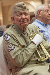 Bob McDonald played the bugle at veterans' funerals and patriotic events,, including for Memorial Day, across Collier County for 15 years. He served in the Army Air Force during World War II and died on May 4, 2019, at 95.