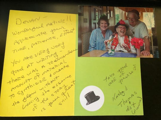 When a reader takes the time to send a thank you note like this one to a reporter like Devan Patel, it brightens our day in the newsroom. Devan carries this card with him every day to work as a reminder for why he is a journalist.