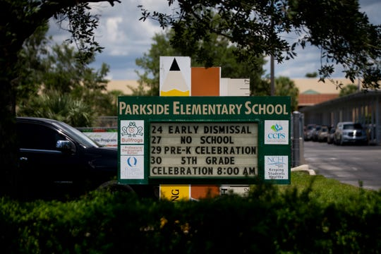 Hector Manley, a former Parkside Elementary School teacher, has been accused of 19 counts of lewd and lascivious molestation and two counts of capital sexual battery against someone younger than 12. Children told investigators that Manley touched them inappropriately at school and at soccer practice, where he was a coach for a local team.