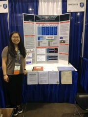 Angela Youn, a Tenafly High School student, at the 2019 Intel International Science and Engineering Fair.