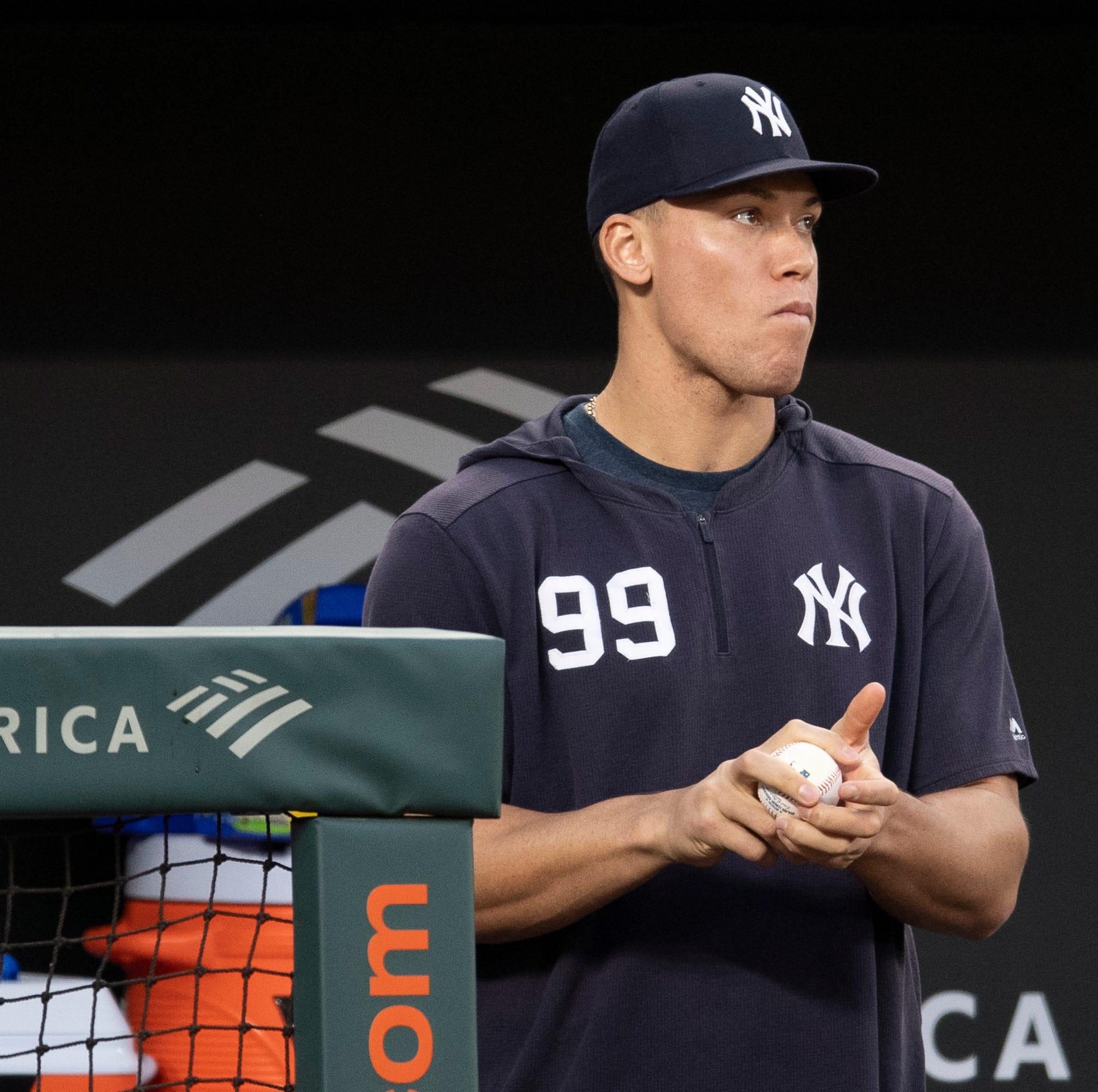 Yankees' injured slugger Aaron Judge could resume swinging a bat this week