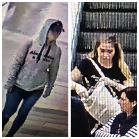 Paramus police are searching for a woman suspected of stealing $900 from Abercrombie and Fitch Kids at Garden State Plaza on May 16.
