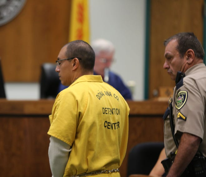 Angel Saenz Jr. is led out of the courtroom Thursday May 23, 2019, after he was sentenced to six years for vehicular homicide in the death of his girlfriend, Sonia Castillo.