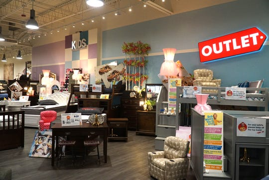 Bob's is divided into specific furniture need areas like Kids or its Sleep Center and also has a separate Outlet area where discontinued furniture has been even further discounted.