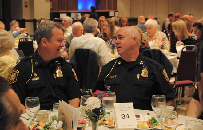The 2019 Livonia prayer breakfast honored first responders, who were given applause by the crowd.