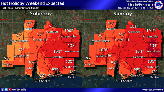 A hot Memorial Day weekend is on its way as forecasters predict highs nearing triple digits.