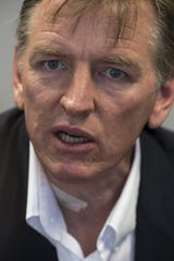 Paul Gosar answers questions Aug. 4, 2016, in the Editorial Board room at The Arizona Republic in Phoenix.