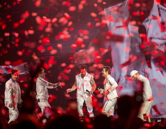 New Kids on the Block bring their Mixtape Tour to Talking Stick Resort Arena in Phoenix on May 22, 2019.