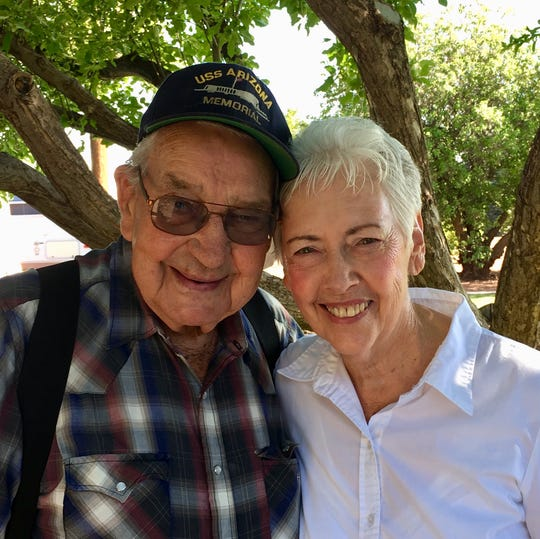 """Charlie and Donna Hall married in 1997. Between them, they have 13 children, 52 grandchildren, 155 great-grandchildren and 16 great-great-grandchildren. """"I have been blessed,"""" Charlie Hall said."""