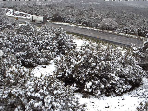 More snow in Flagstaff, rain in Phoenix area. Yes, it is May