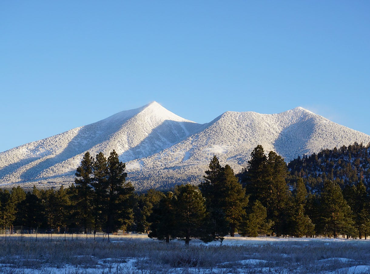 Awesome snow covering San Francisco Peaks.