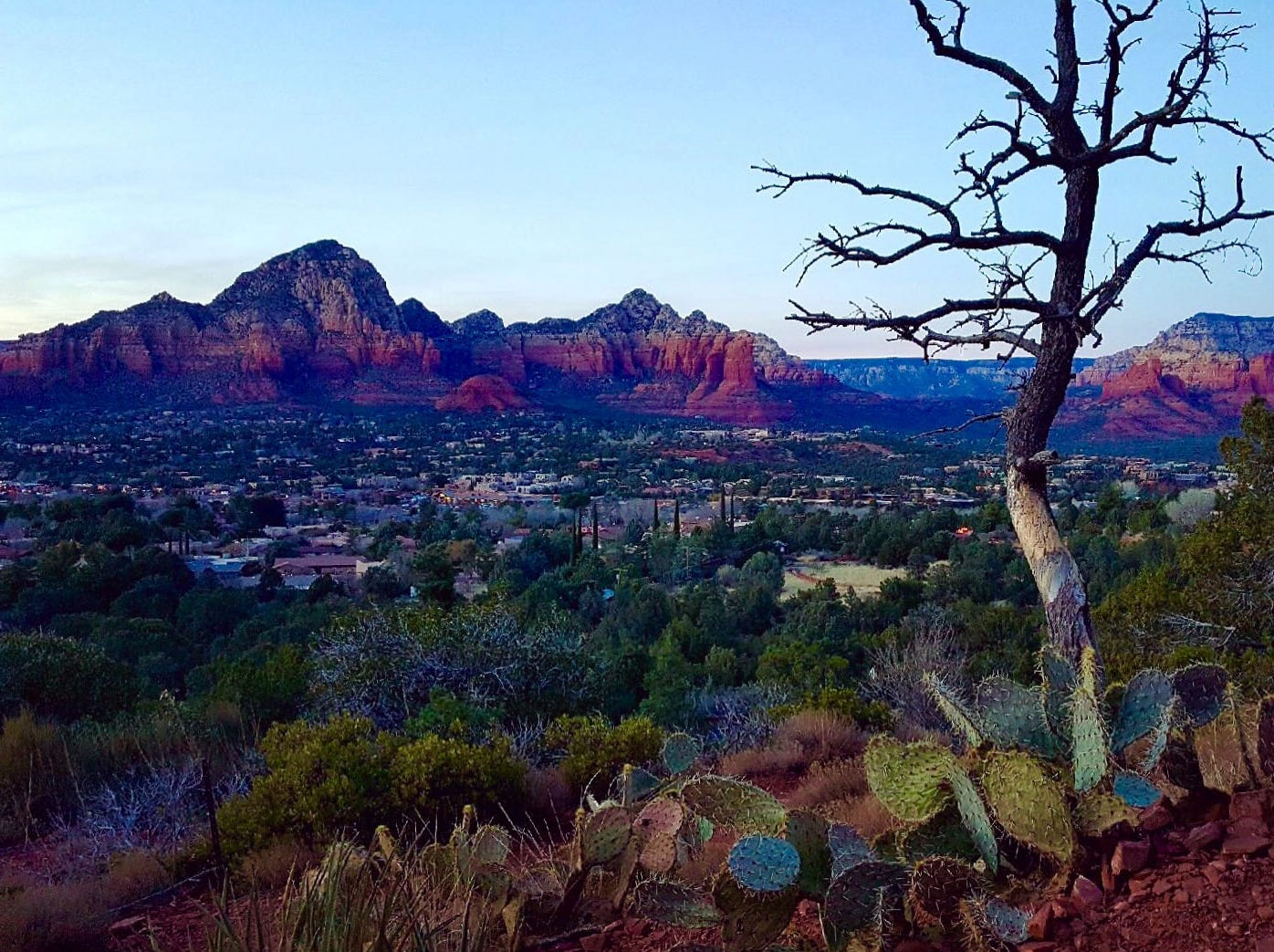 Sedona provided some perfect hiking weather.