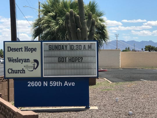 Desert Hope Wesleyan Church in Phoenix pictured on Thursday, May 23, 2019.