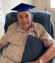 Charlie Hall left high school to enlist in the Marine Corps during World War II and never went back — until Friday, at age 96, when he will receive his diploma.