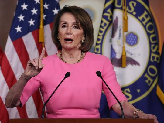 Nancy Pelosi, presidenta de la Cámara Baja en el Congreso.