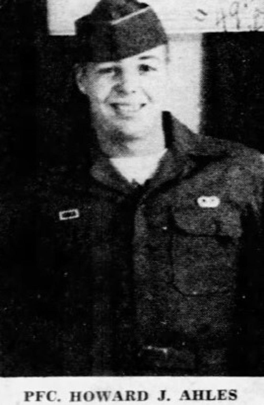 Howard J. Ahles, of St. Clair, died while serving in the Korean War.