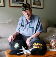 Owen Cottle in his home in Fishkill on May 23, 2019. Cottle served in Europe with the 387th Bomb Group as an armorer for B-26 bombers in the Army Air Corps during World War II.