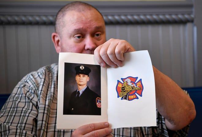 Fletcher Slutman talks about his son, Marine SSgt Christopher Slutman who was killed in action April 8, 2019.Thursday, May 23, 2019.John A. Pavoncello photo