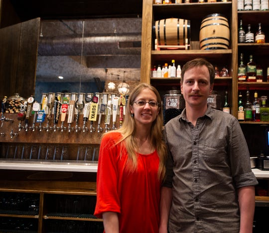 Lisa and Nathan Novak, co-owners of The Fig and Barrel in downtown York.