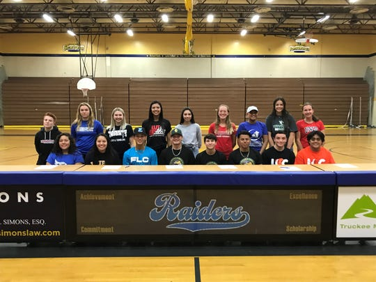 Reed had 17 athletes sign for college on Thursday.