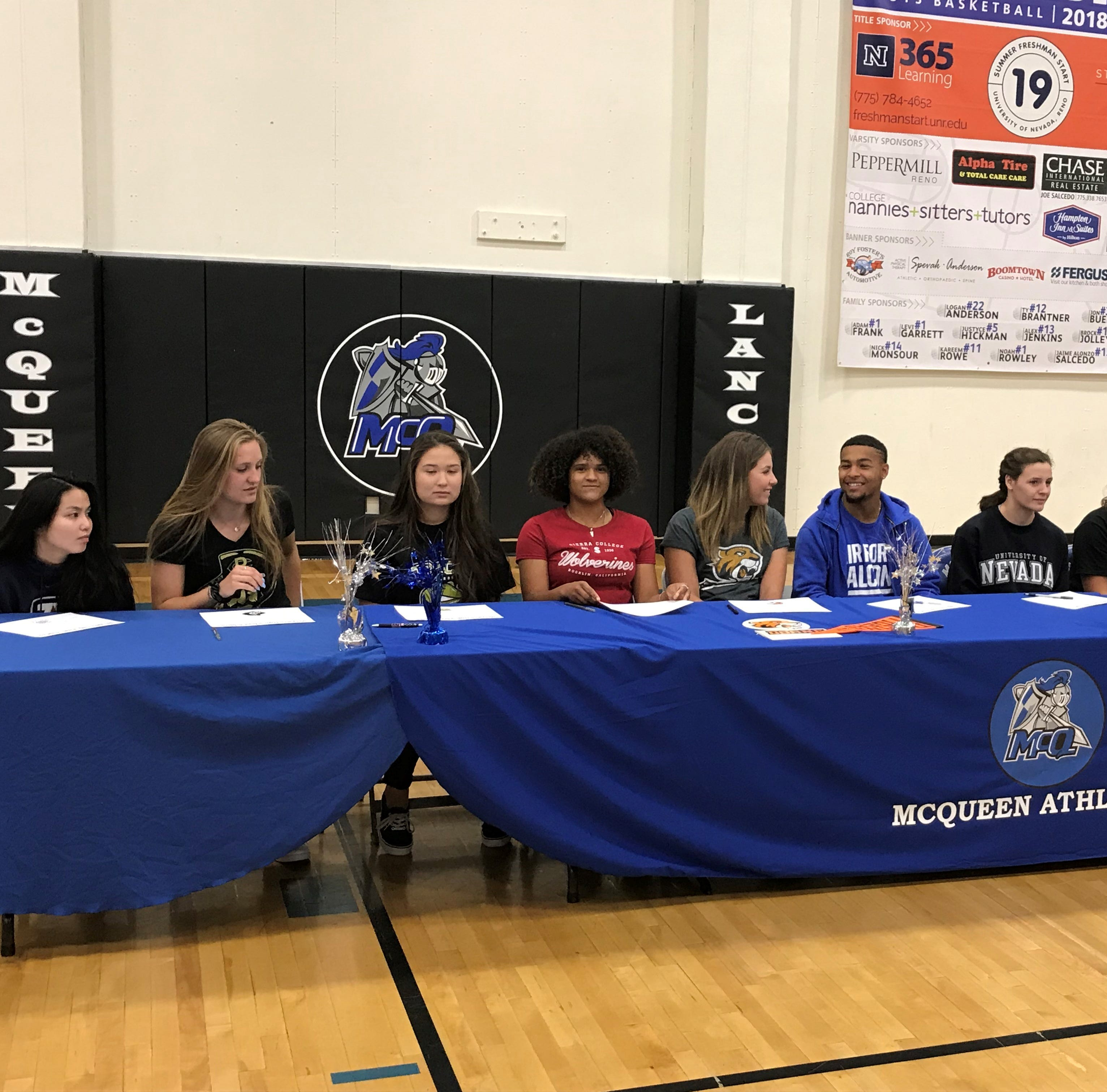 Williams not among prep standouts signing for college; Reed, McQueen athletes sign