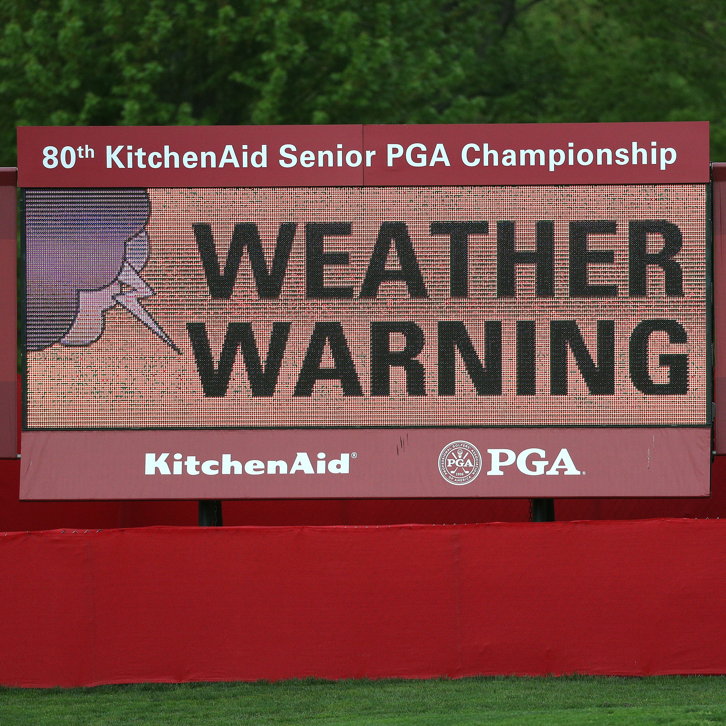 Senior PGA 2019 Day One: Play suspended due to dangerous weather conditions