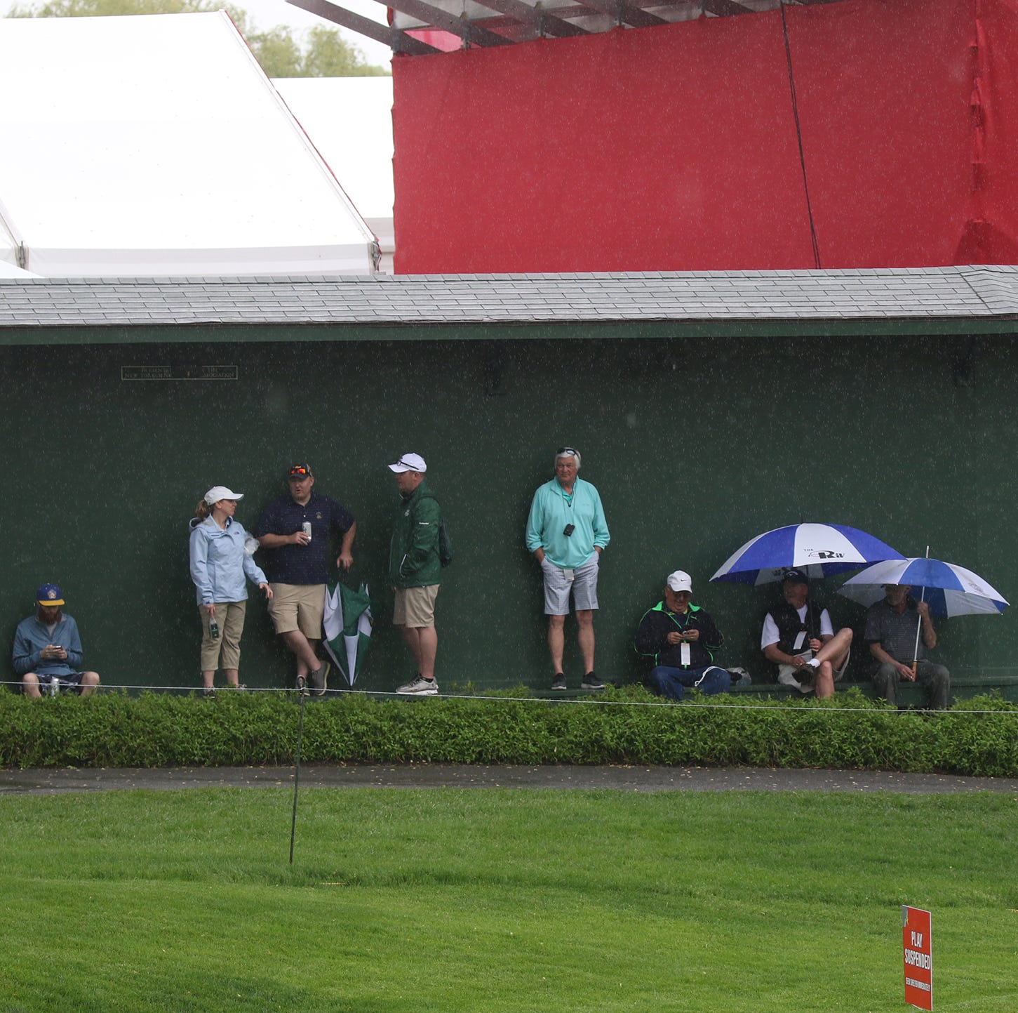 Senior PGA 2019 Day One: Play resumes after more than two-hour delay