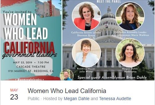A free event on women in government is set to take place Thursday night at the Cascade Theatre.