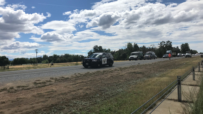 UPDATE: High-speed crash on I-5 near Knighton injures motorcyclist
